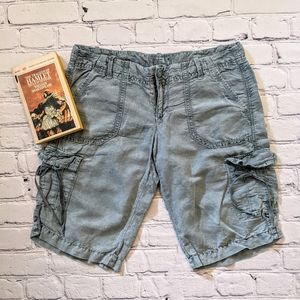American Eagle sage green cargo shorts
